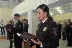 3 февраля 2017 г. - Ветераны боевых действий на присяге молодых сотрудников полиции