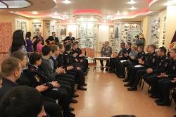 4 февраля 2015 г. - Встреча в музее УМВД России  с молодыми сотрудниками полиции